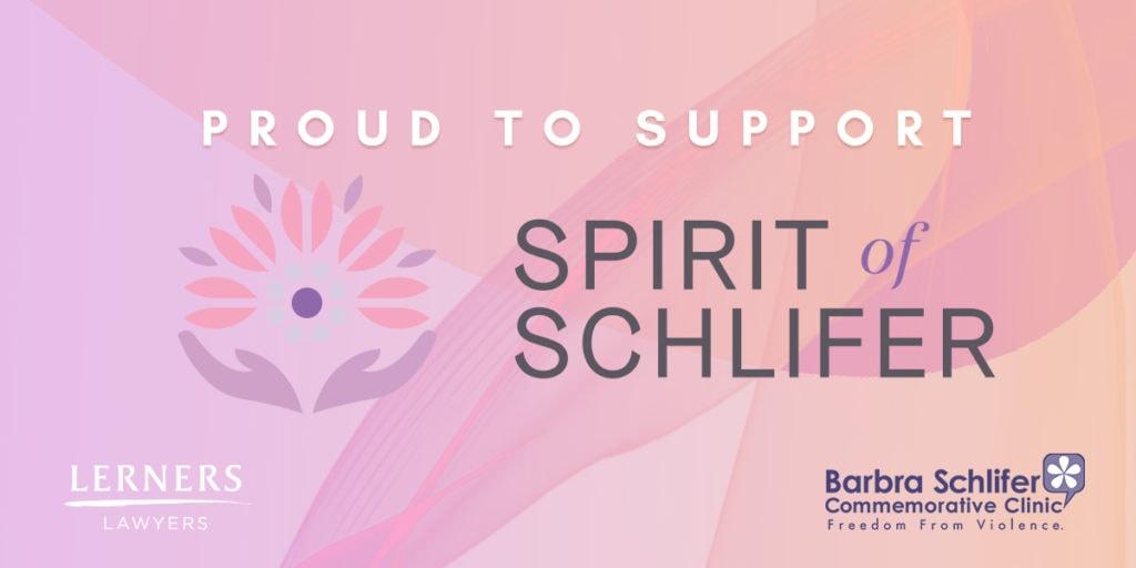 Proud to support Spirit of Schlifer